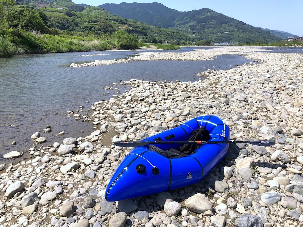 紀の川とパックラフト