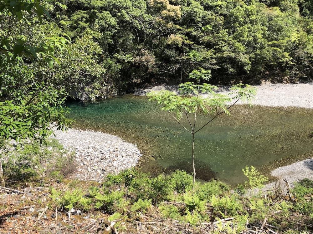 入川道からの和田川の眺め