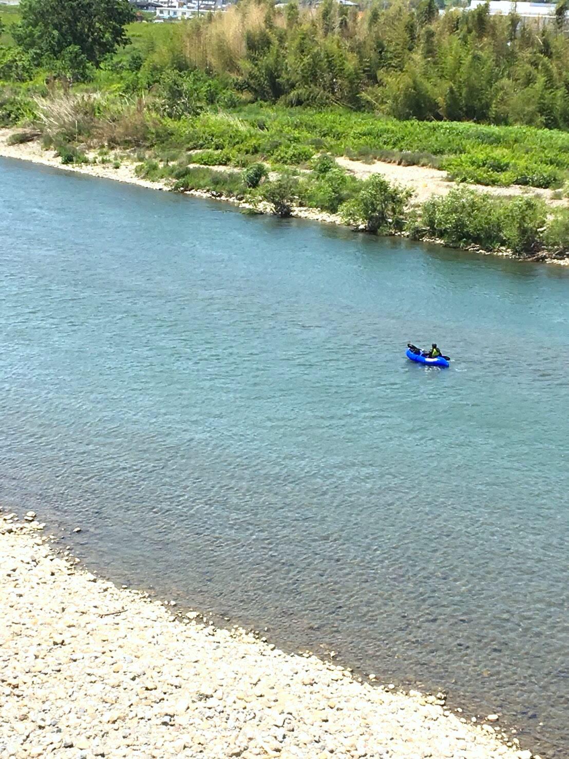 紀の川でパックラフト