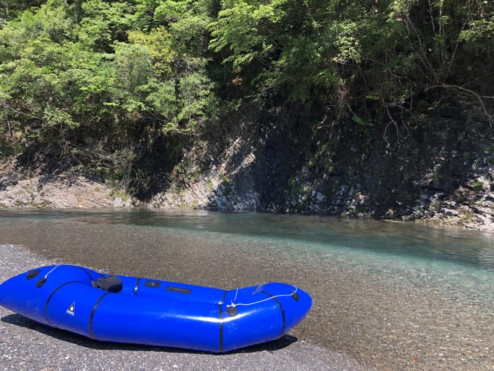 大塔川漁業監視所近くの河原