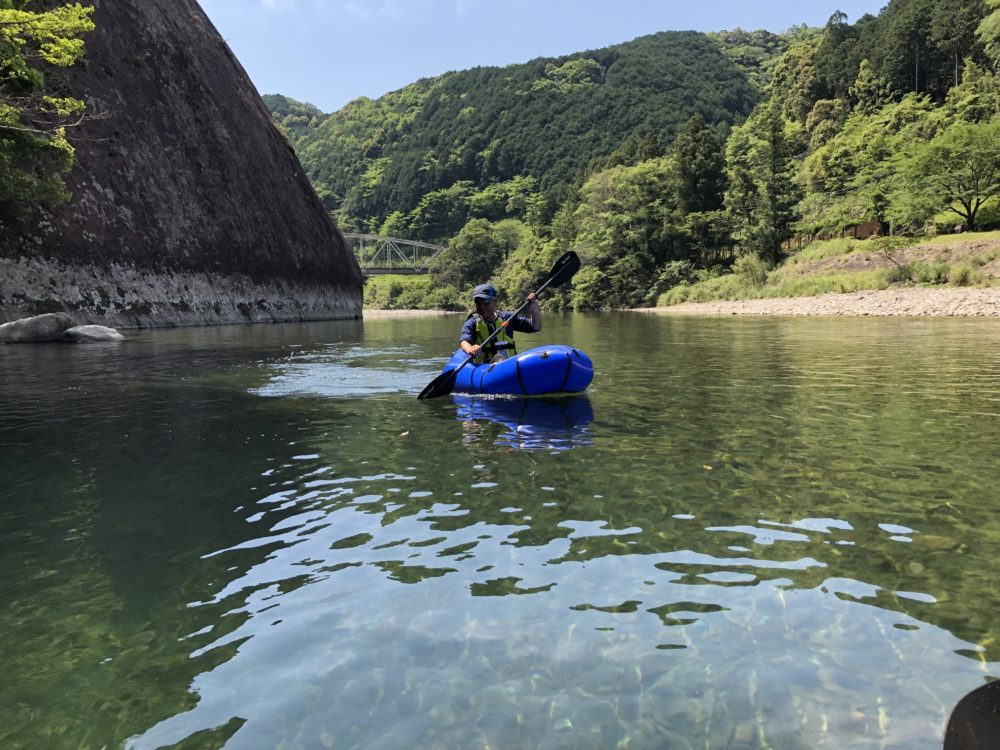 古座川でパックラフト