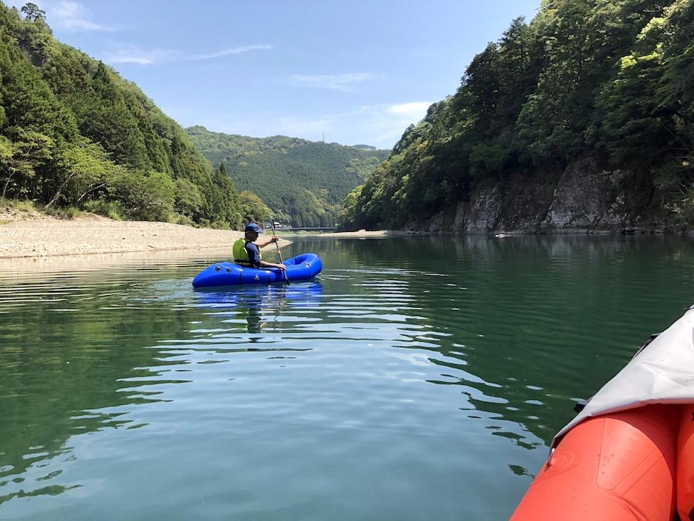 古座川とパックラフト