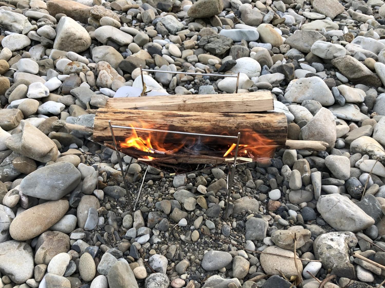 焚き火開始