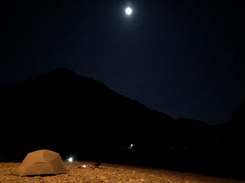夜の古座川河原
