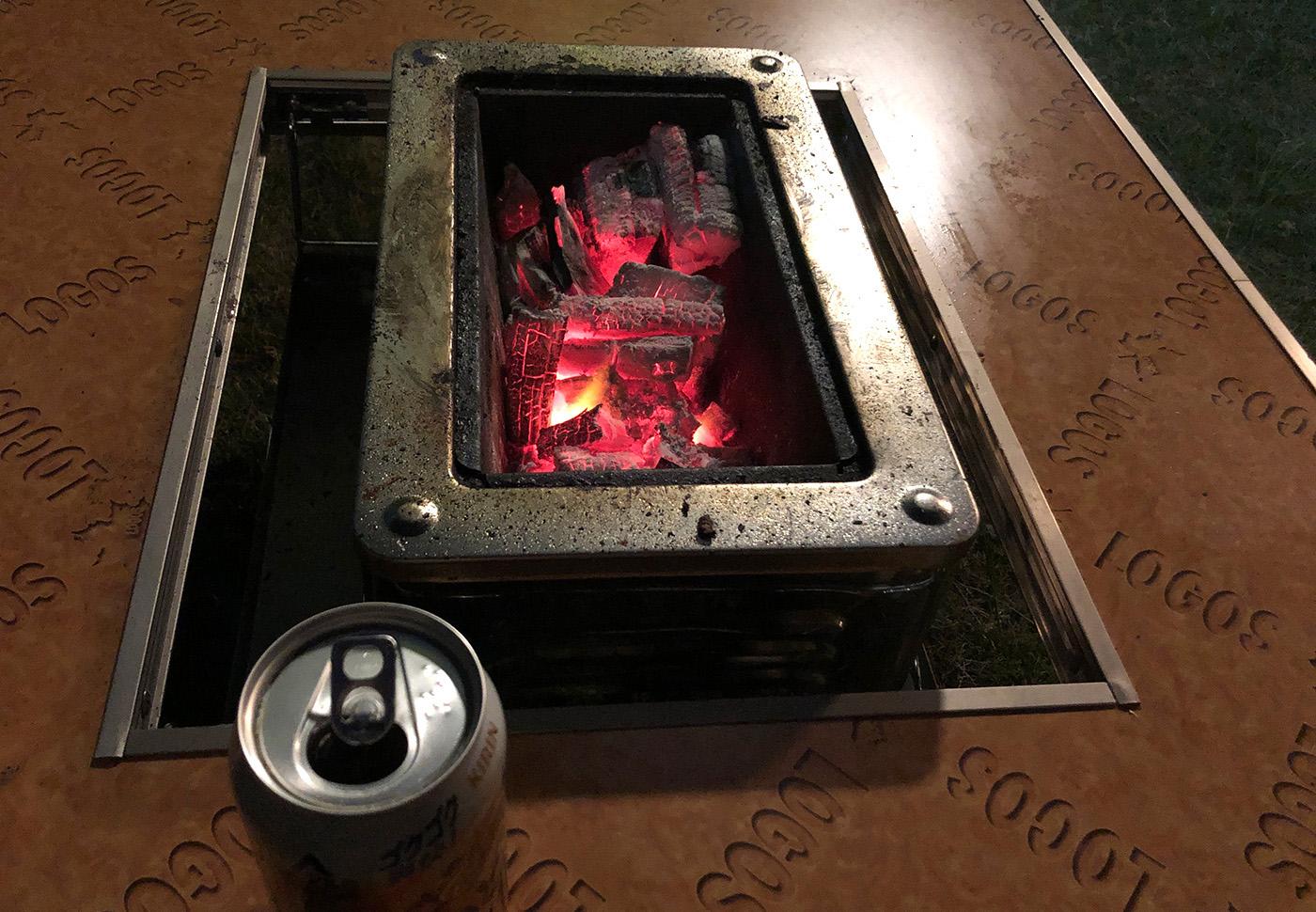 BBQ後の炭火