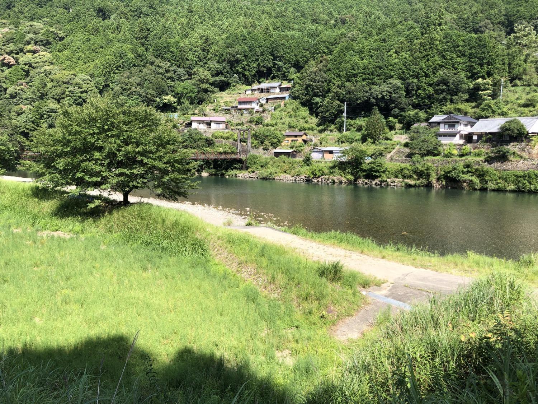 赤木川ゴール地点