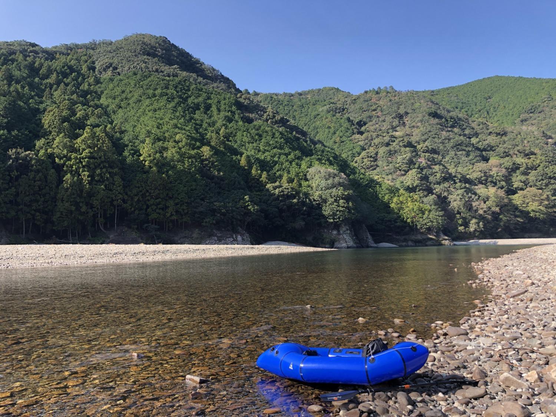 日置川とパックラフト